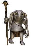 Fantasy creature with a staff Stock Photo