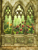 Fantasy garden with roses Stock Photography