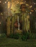 Fantasy garden scene Stock Photo