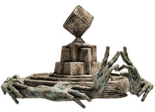 Fantasy stone shrine Stock Image