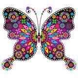 Fantasy vivid vintage butterfly Royalty Free Stock Photography