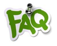 FAQ sticker Royalty Free Stock Photography
