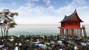 Far East Theme Landscape Stock Photography