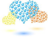 Farbige Herzen gemacht von den kleinen Kristallen Lizenzfreie Stockbilder