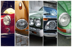 Fari classici dell'automobile Fotografia Stock