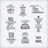 Fashion attitude quotes set Royalty Free Stock Images