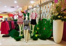 Fashion boutique clothing shop clothes store Stock Images