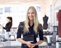 Fashion designer entrepreneur at small business Royalty Free Stock Photography
