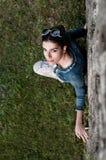 Fashion Model Looks Up Royalty Free Stock Photos
