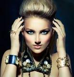 Fashion Rocker Style Girl Portrait Royalty Free Stock Photo