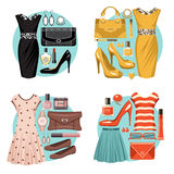 Fashion set. Stock Images