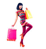 Fashion Shopping Girl Stock Photo