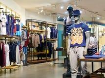 Men clothing shop clothes store Stock Photos