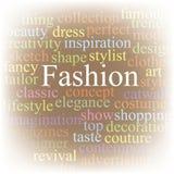 Fashion. Tag cloud Royalty Free Stock Photos