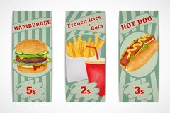 Fast food banners Royalty Free Stock Photos