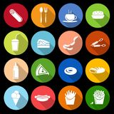 Fast food icon flat Royalty Free Stock Photos