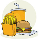 Fast Food Meal Royalty Free Stock Images