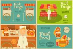 Fast Food Mini Posters Stock Image