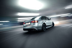 Fast moving car night version Royalty Free Stock Photography
