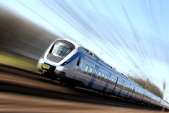 Fast train in motion Stock Images