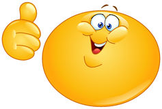 Fat emoticon with thumb up Stock Images