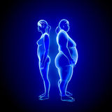 Fat and thin Woman Royalty Free Stock Images