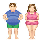 Fat woman and fat man. Royalty Free Stock Photo