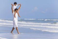 Father Parent Boy Child Family Beach Fun Royalty Free Stock Image