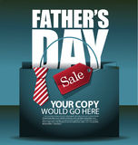 Fathers Day sale shopping bag background EPS 10 vector Royalty Free Stock Image