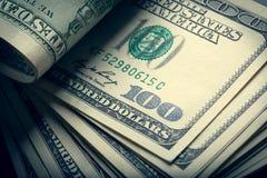 Fatture dell'americano dei soldi Fotografia Stock Libera da Diritti