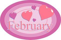 februari Arkivbilder