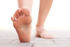 Feet walking outside Royalty Free Stock Image