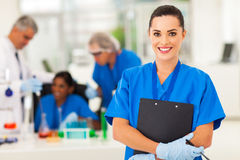 Female lab technician Royalty Free Stock Image