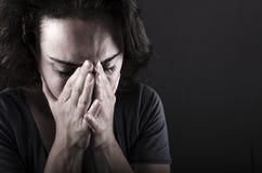 Femme déprimée Photographie stock libre de droits
