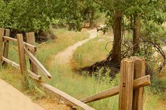 Fence path Royalty Free Stock Photography