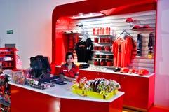 Ferrari-Welt in Abu Dhabi UAE Stockfotografie