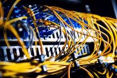 Fiber-optic equipment Royalty Free Stock Image