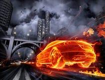 Fiery car Royalty Free Stock Photo