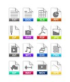 File type icon Stock Photos