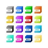 File type icon Royalty Free Stock Photos