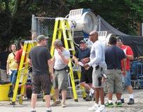 Film shoot crew. Royalty Free Stock Image