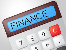 Finance Calculator Shows Business Trading And Calculate Royalty Free Stock Image