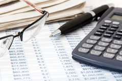 Financial calculator Stock Image