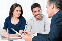 Financial planning consultation Stock Photos