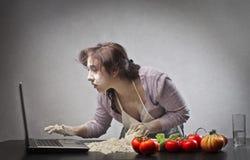 Find a Recipe Stock Image