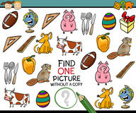Find single picture game cartoon Royalty Free Stock Images