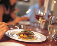 Fine dining Stock Photography