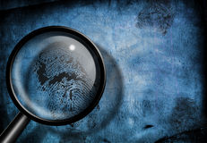 Finger print investigation Royalty Free Stock Photography