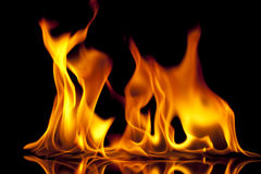 Fire Shapes Royalty Free Stock Photo