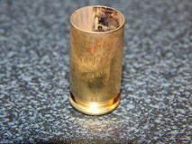 Fired shell casing Royalty Free Stock Photo